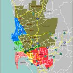 Map Defining Major Districts Of San Diego   City Map Of San Diego California