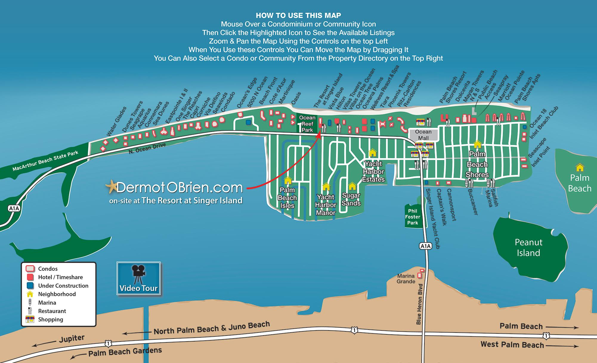 Map | Dermot Obrien Realty Sells Singer Island! - Singer Island Florida Map
