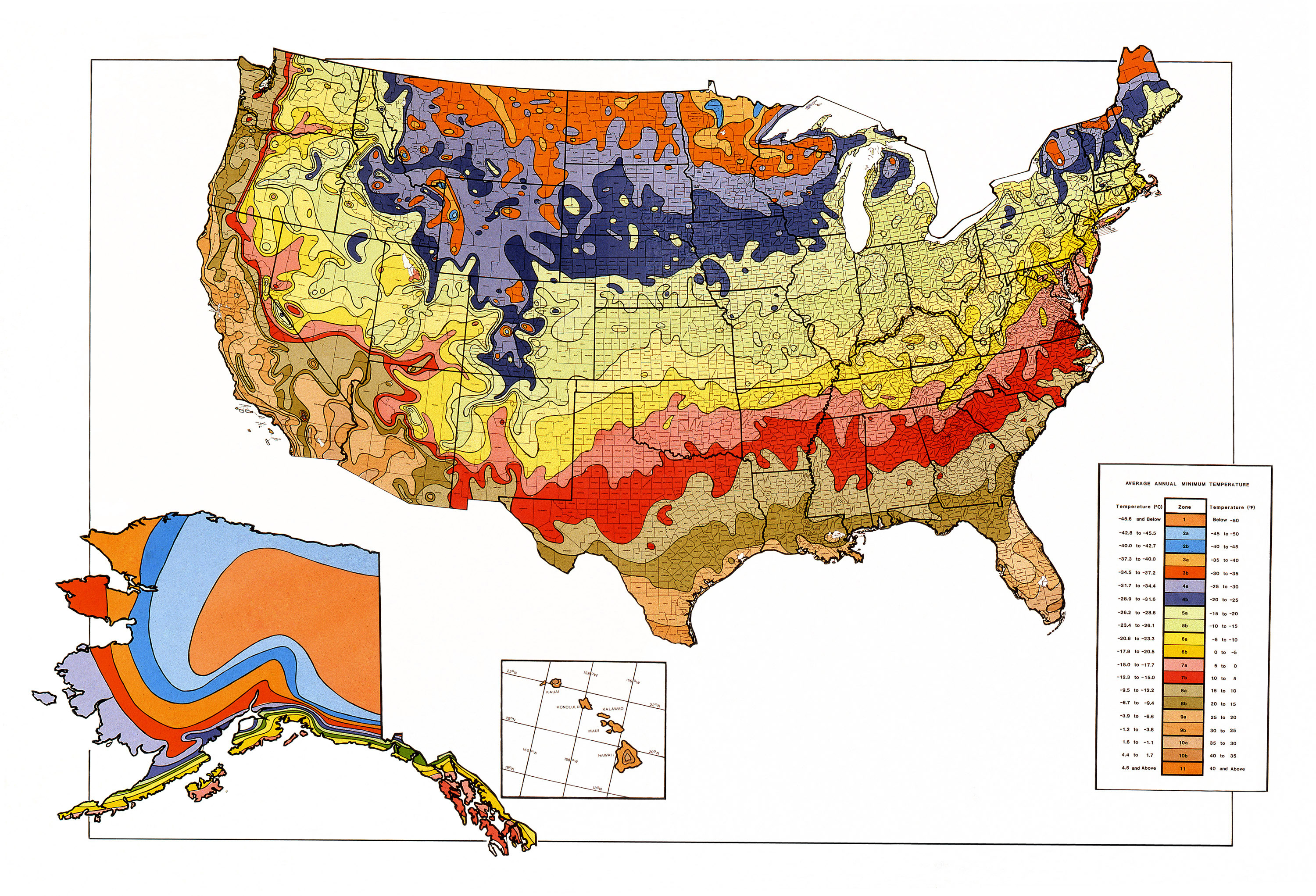 Map Downloads | Usda Plant Hardiness Zone Map - Florida Growing Zones Map