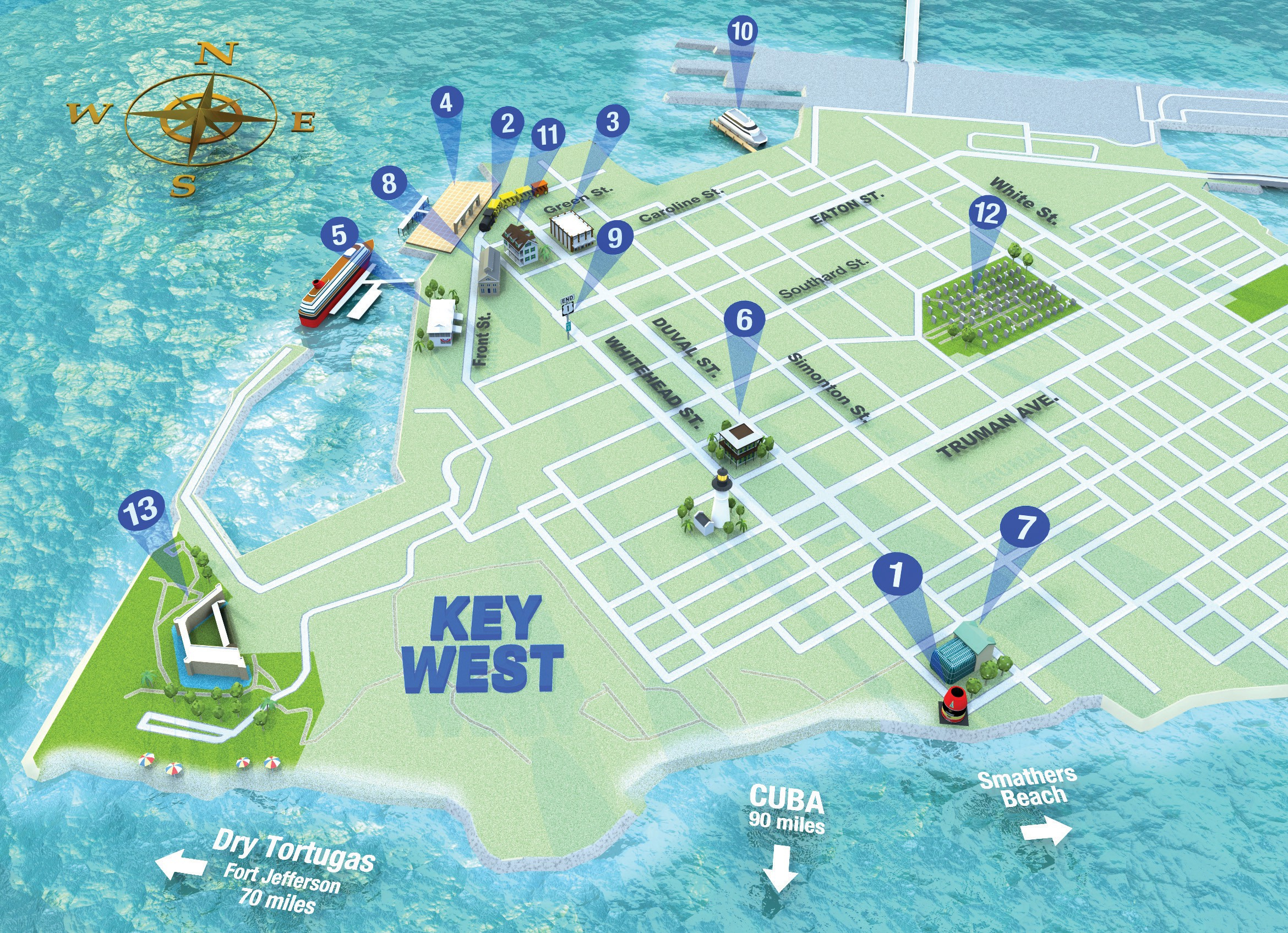 Map It Out Getting Around Key West | Key West Florida Weekly | Key - Map Of Duval Street Key West Florida