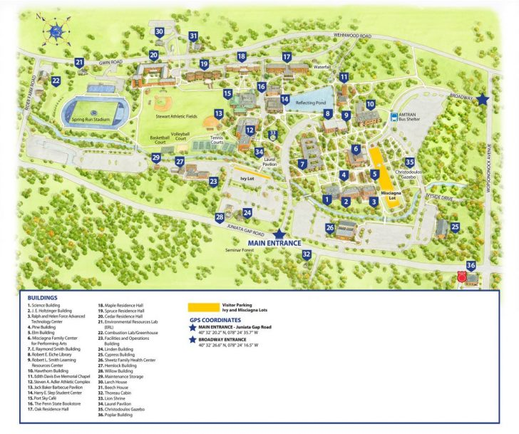 California University Of Pa Campus Map