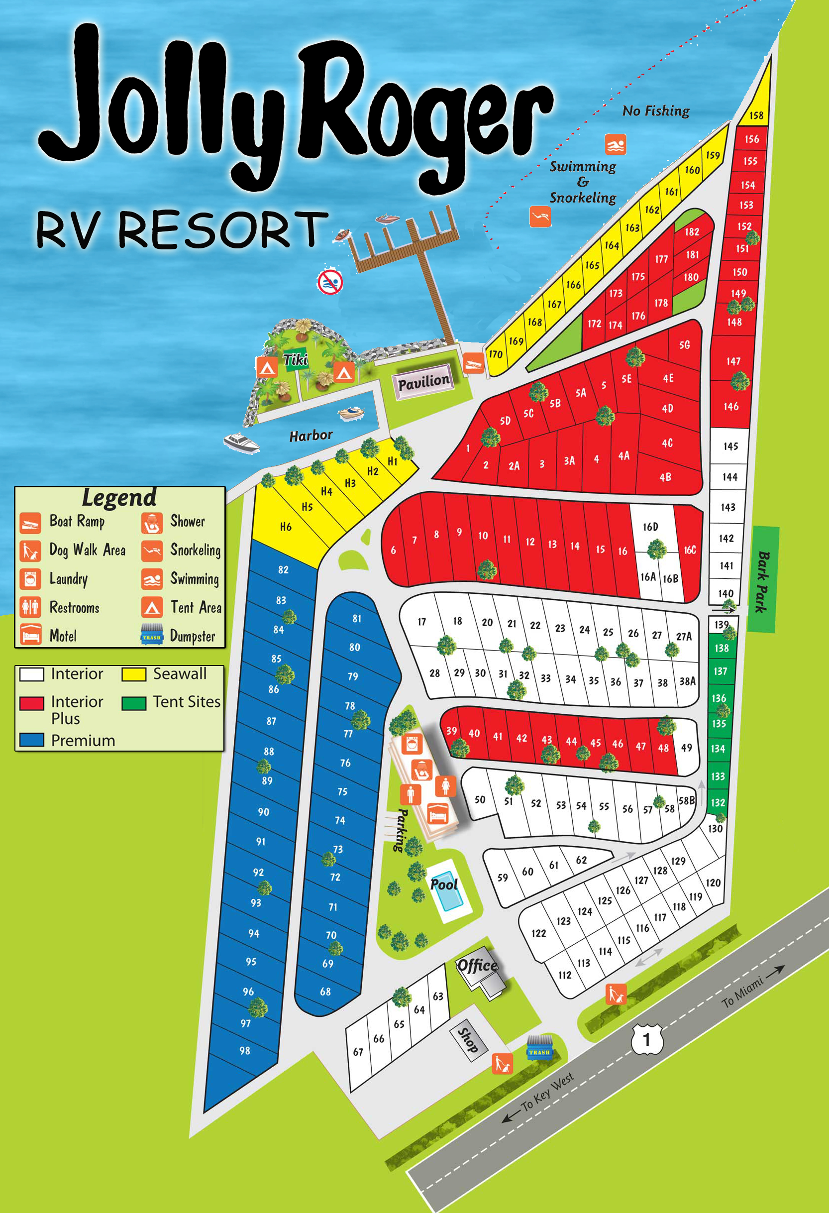Map - Jolly Roger - Map Of Rv Parks In Florida