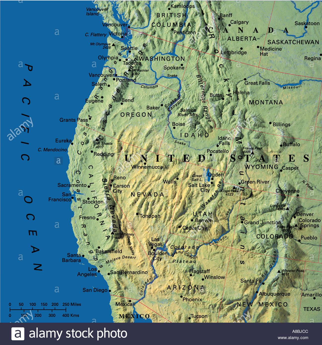 Map Maps Usa California Oregon Washington State Abjcc Map California - California Oregon Washington Map
