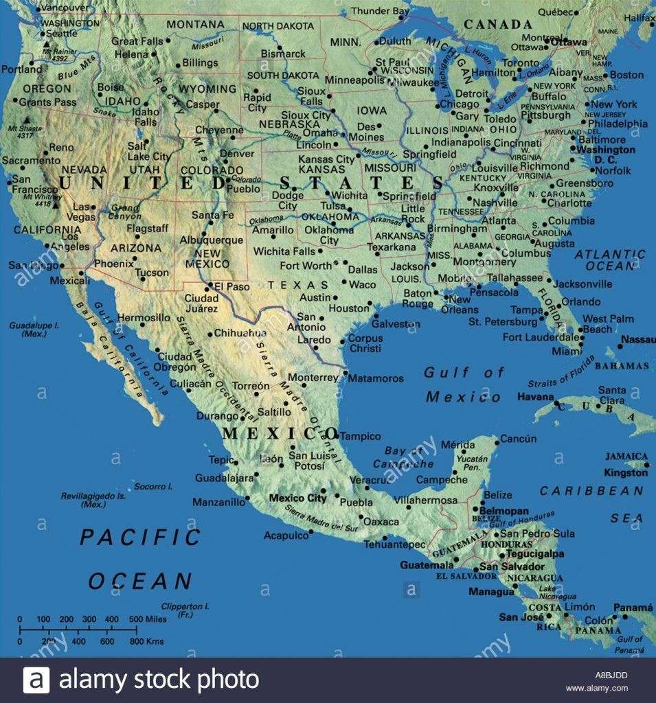 Map Maps Usa Middle West East Coast New England States Florida For - Mexico Florida Map
