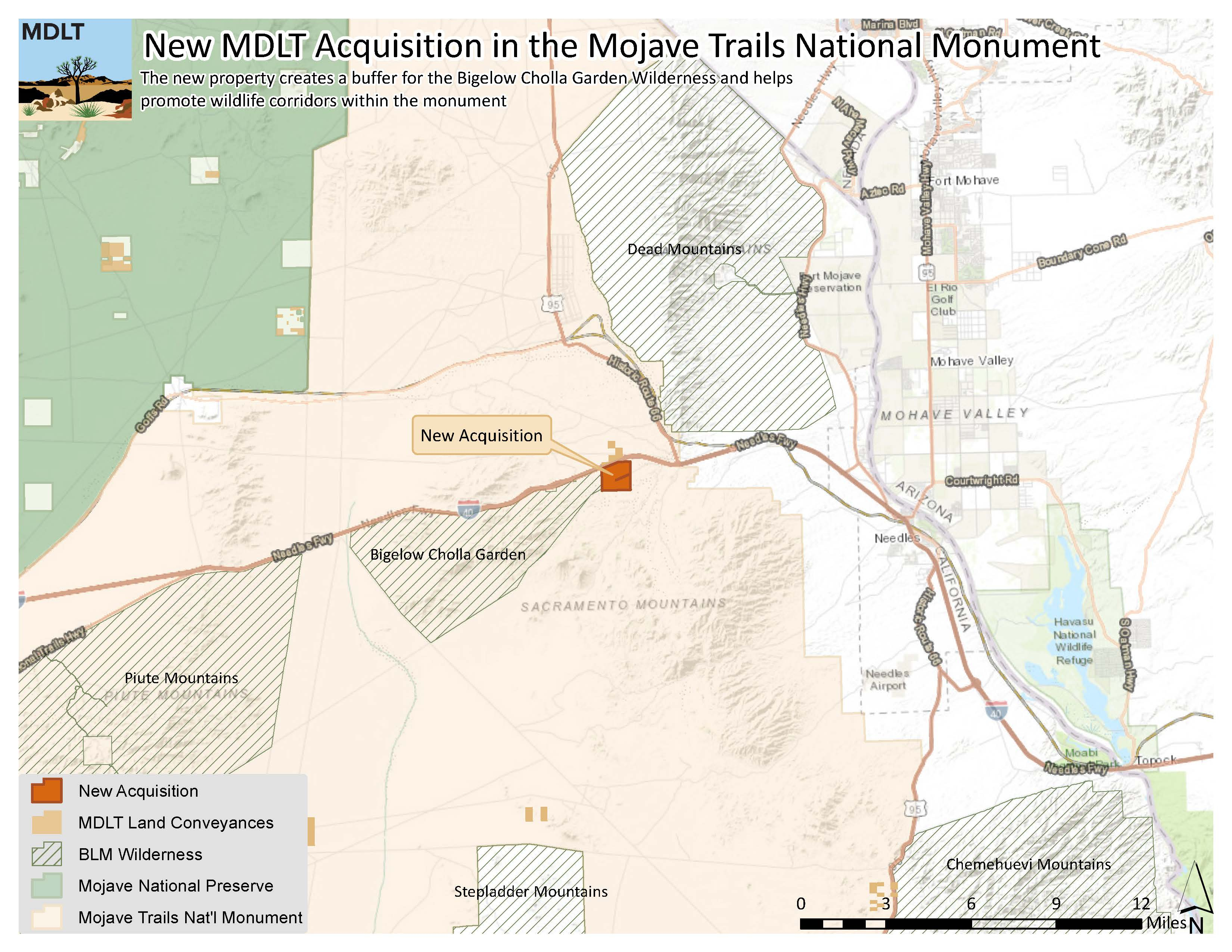 Map Mdlt Acquisition In Mojave Trails_121318 - Mdlt - Mojave California Map