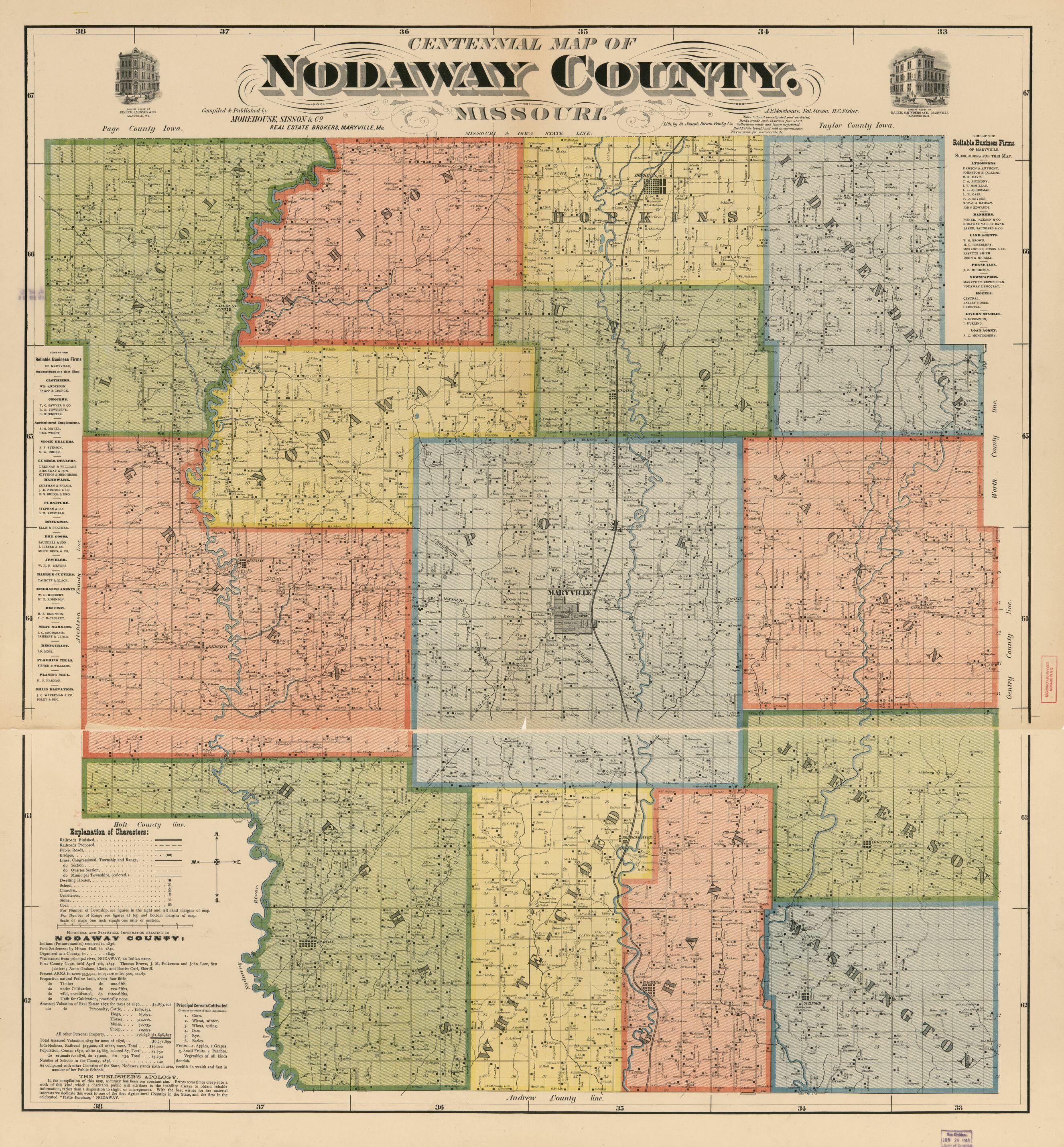 Map, Missouri, Landowners | Library Of Congress - Texas County Missouri Plat Map