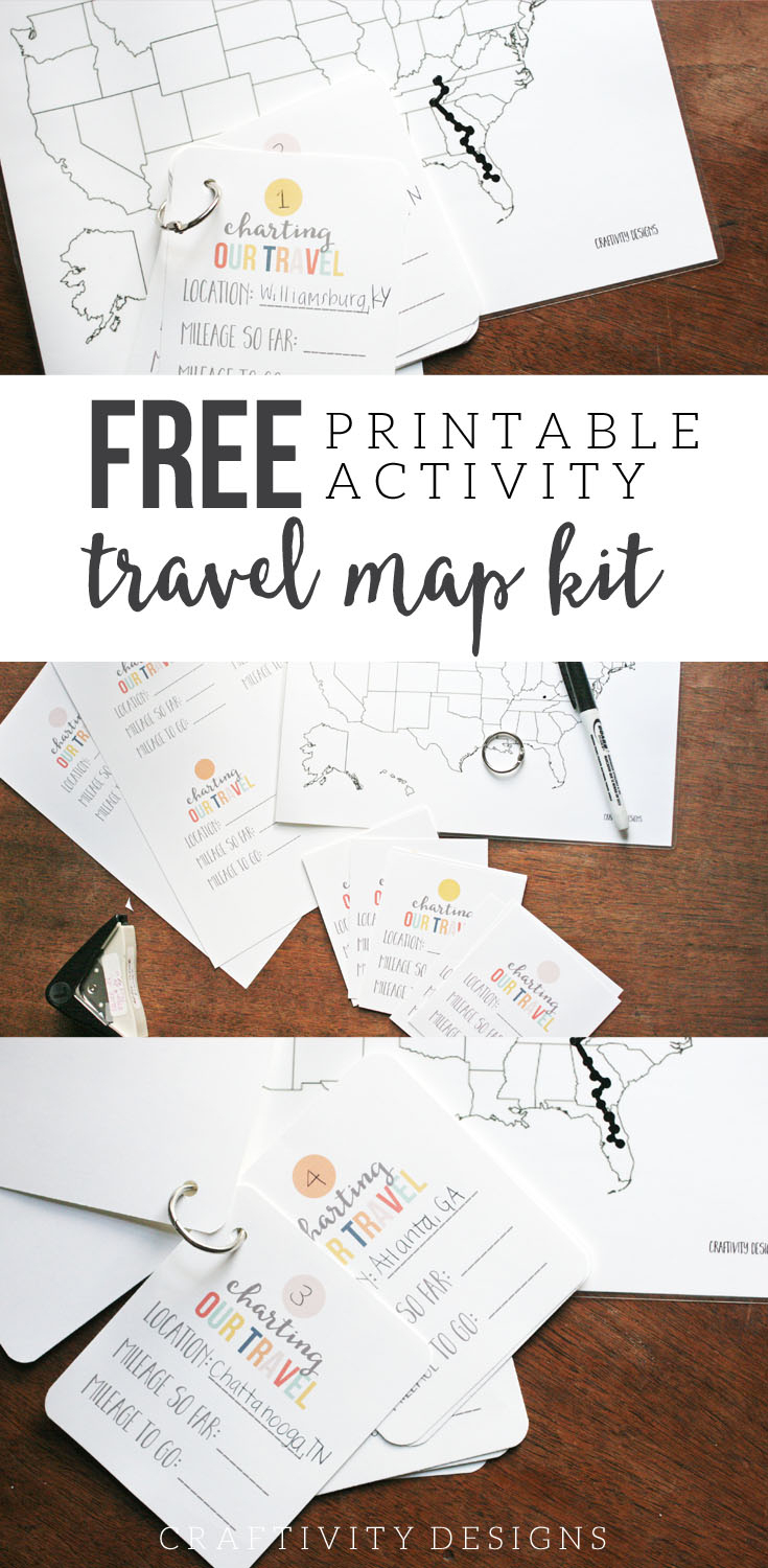 Map My Trip For Kids | Charting Travel With A Free Map Template - Printable Road Trip Maps