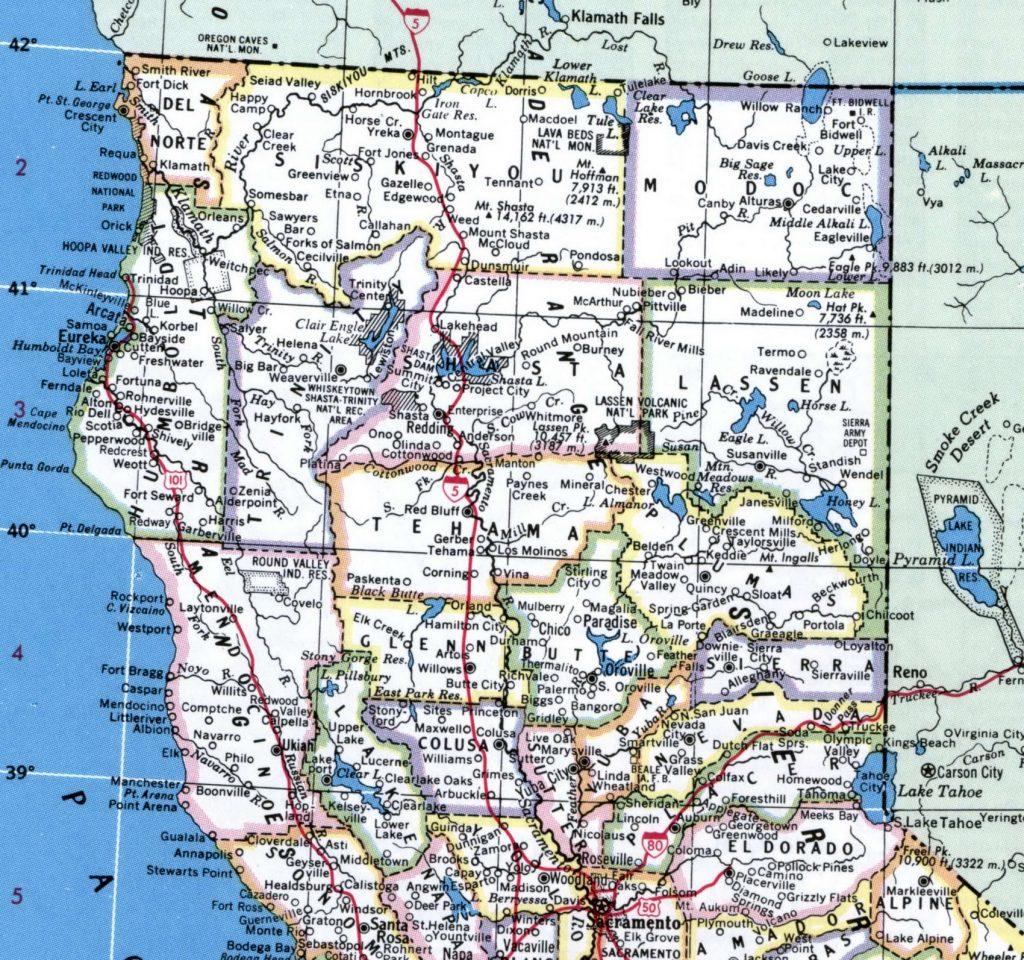 Map Northern California Cities - Klipy - Map Of Northern California