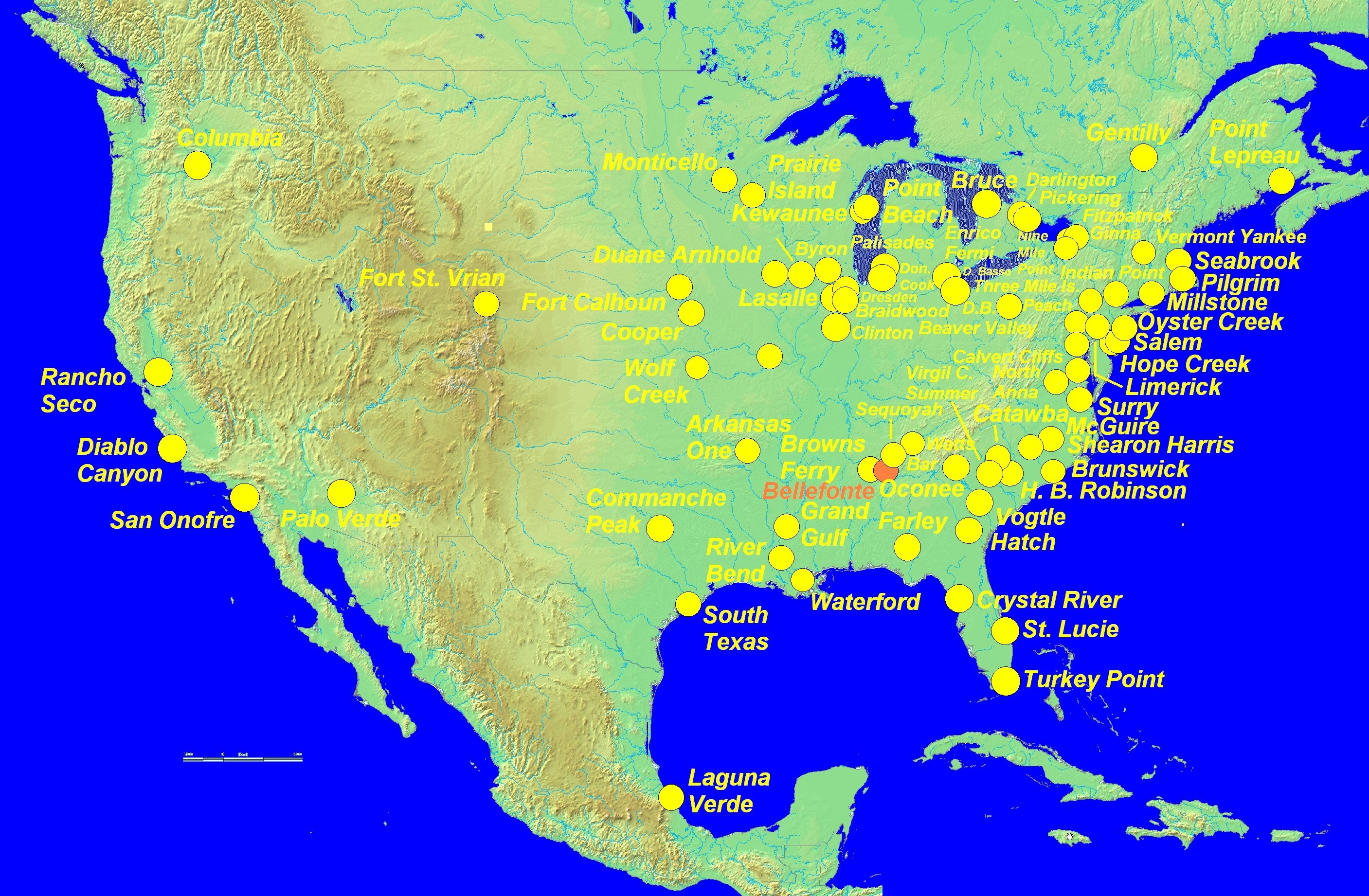 Map Nuclear Power Plants In Us North America Luxury Map Nuclear - Nuclear Power Plants In Texas Map