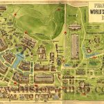 Map Of 1904 World's Fair Attractions In Forest Park. St. Louis, Mo   Forest Park St Louis Map Printable