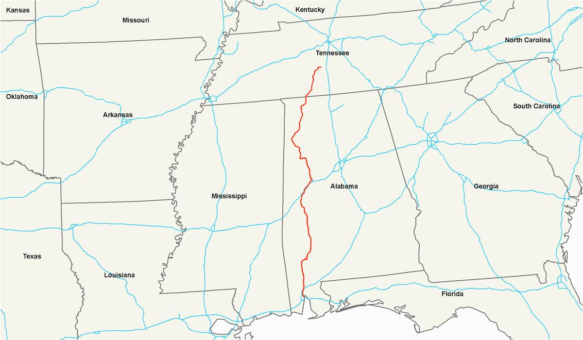 Map Of Alabama And Florida Highways | Secretmuseum - Us Map Of Alabama And Florida