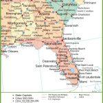 Map Of Alabama, Georgia And Florida   Road Map Of North Florida