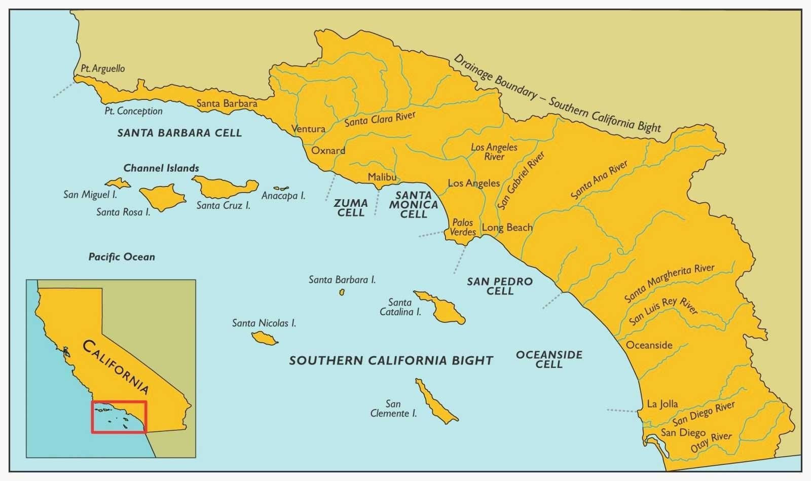 Map Of All Southern California Beaches – Map Of Usa District - Map Of Southern California Beaches