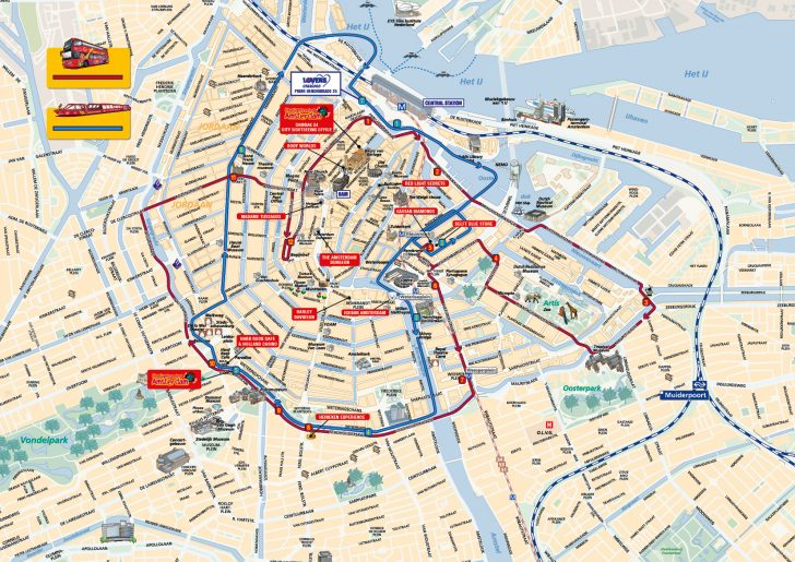 Printable Tourist Map Of Amsterdam