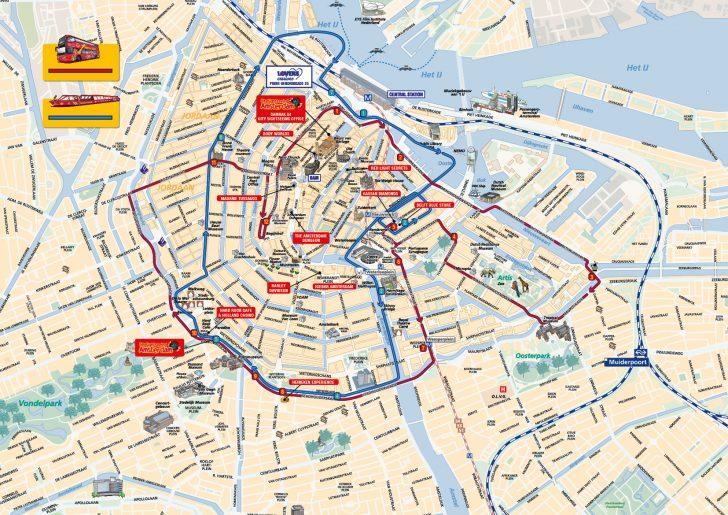 Printable Tourist Map Of Amsterdam