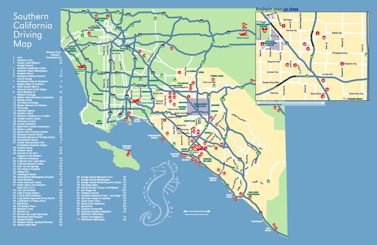 Map Of Anaheim California Area - Klipy - Map Of Anaheim California And Surrounding Areas