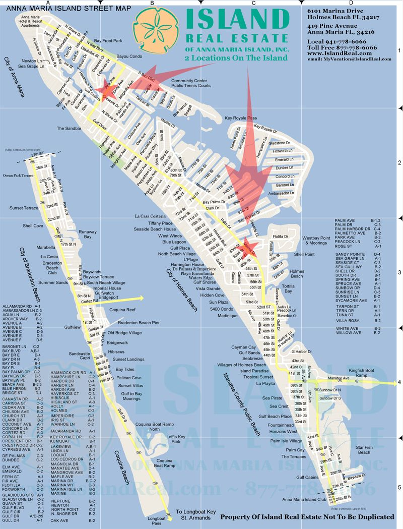 Map Of Anna Maria Island - Zoom In And Out. | Anna Maria Island - Florida Public Beaches Map