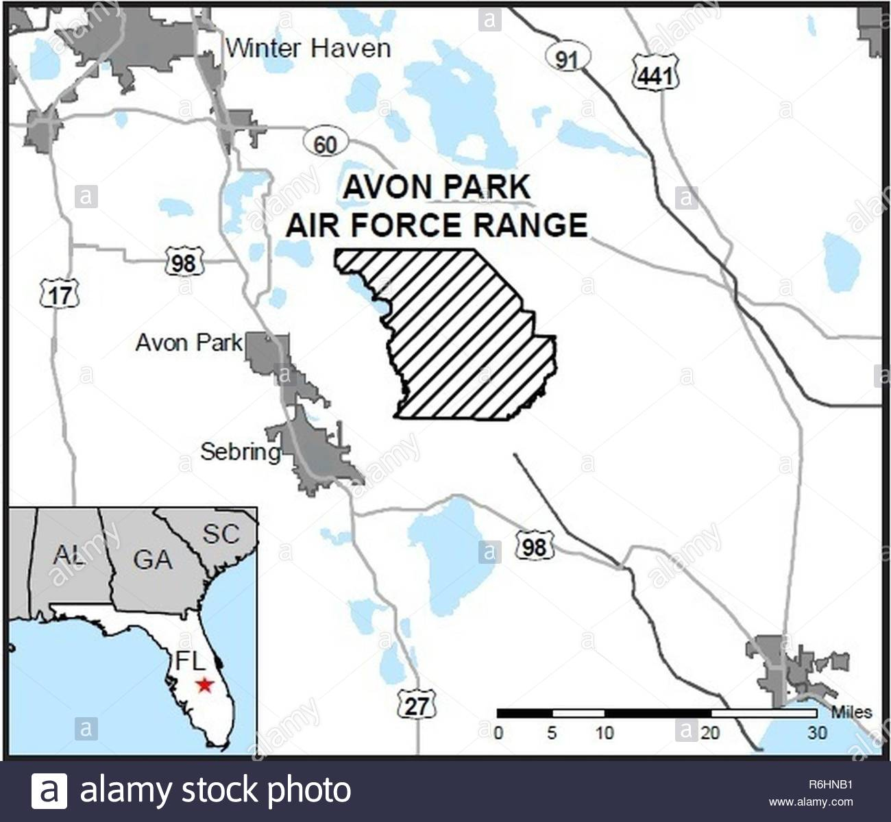 Map Of Avon Park Air Force Range, Florida. An Air Force Wildland - Lackland Texas Map