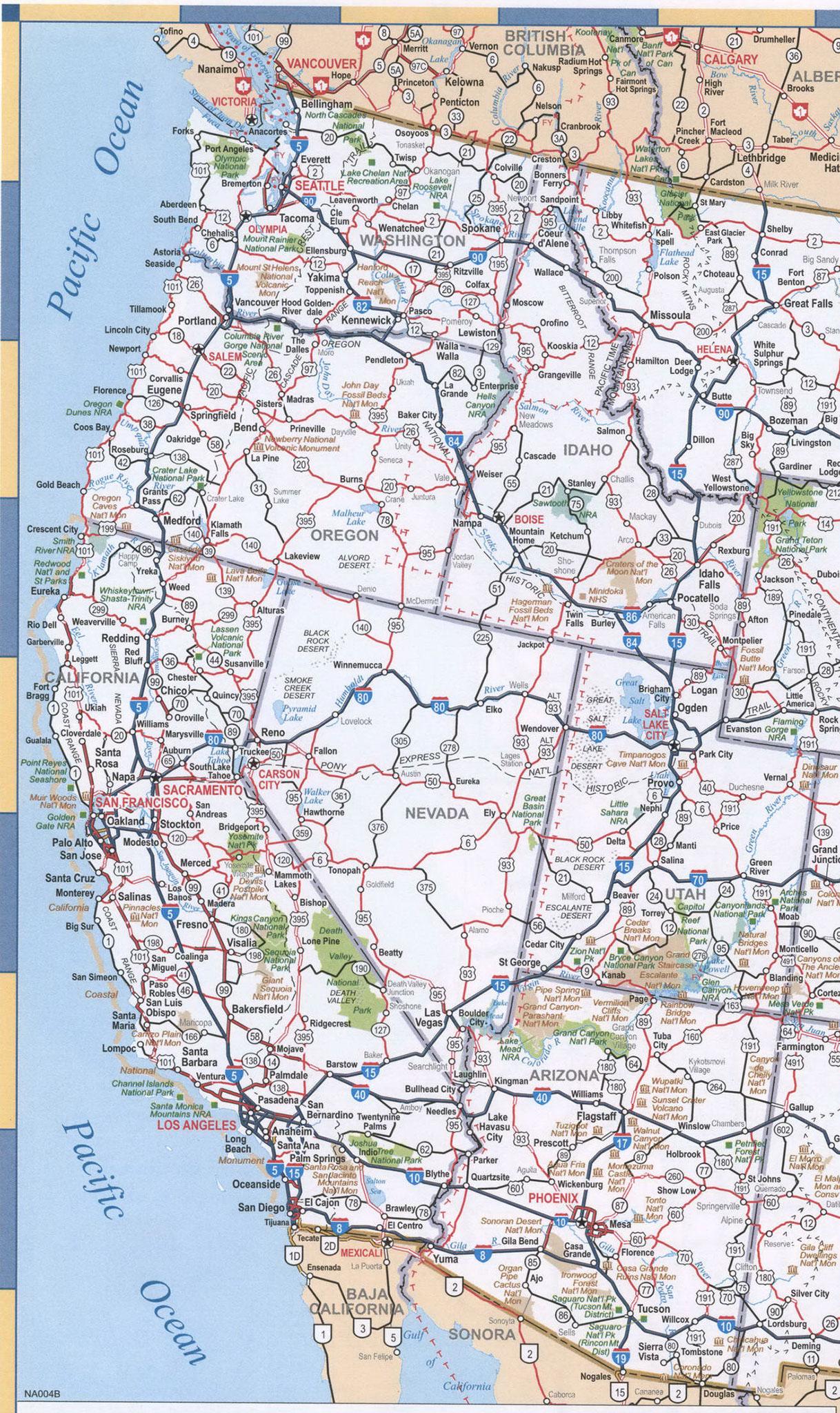Map Of California And Oregon Coast - Klipy - Road Map Oregon California