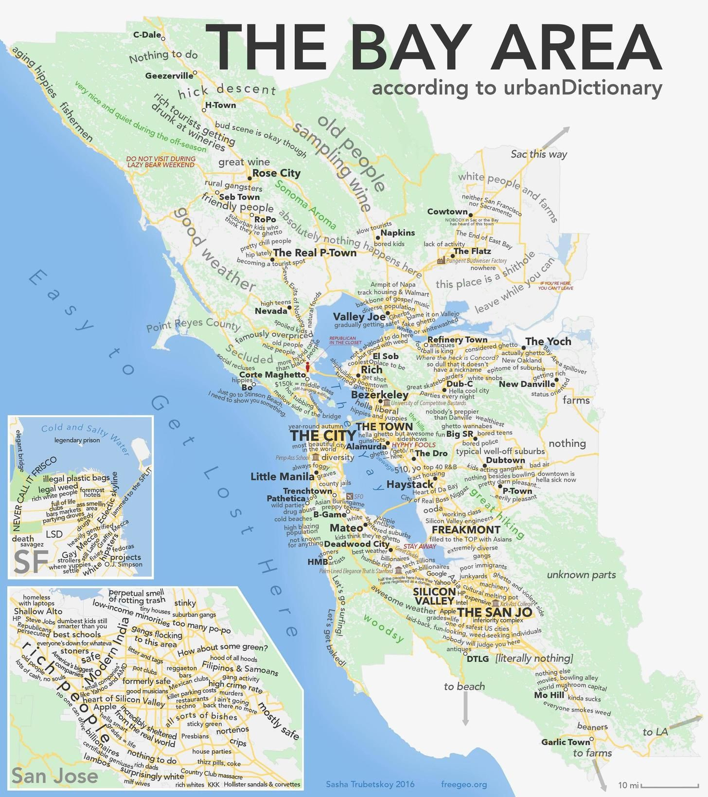 Map Of California Bay Area Cities Best Of As Promised The Bay Area - Map Of Bay Area California Cities