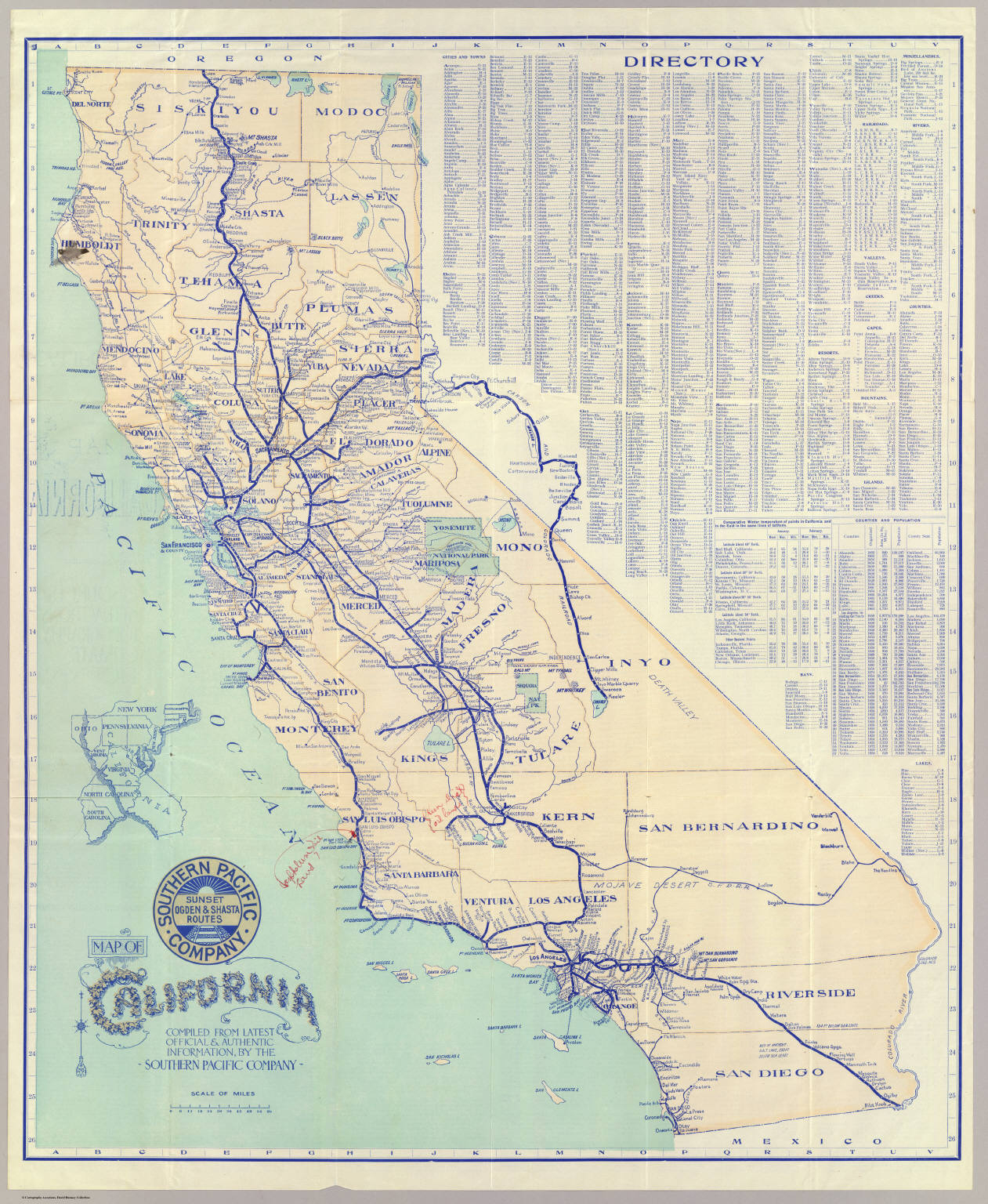 Map Of California. - David Rumsey Historical Map Collection - Buy Map Of California