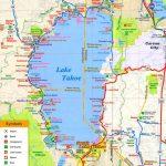 Map Of California Lake Tahoe   Klipy   Map Of Lake Tahoe Area California