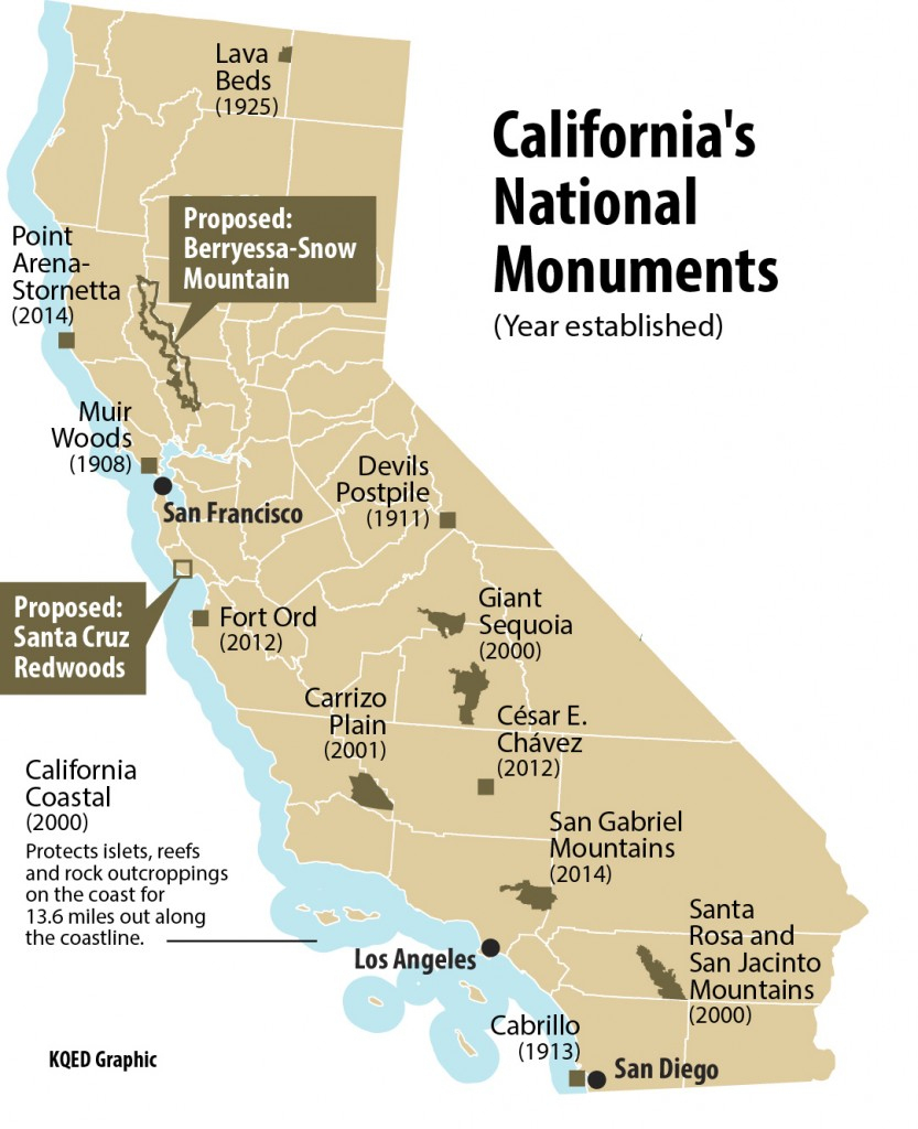 Map Of California National Parks And Monuments - Klipy - Map Of California National Parks And Monuments