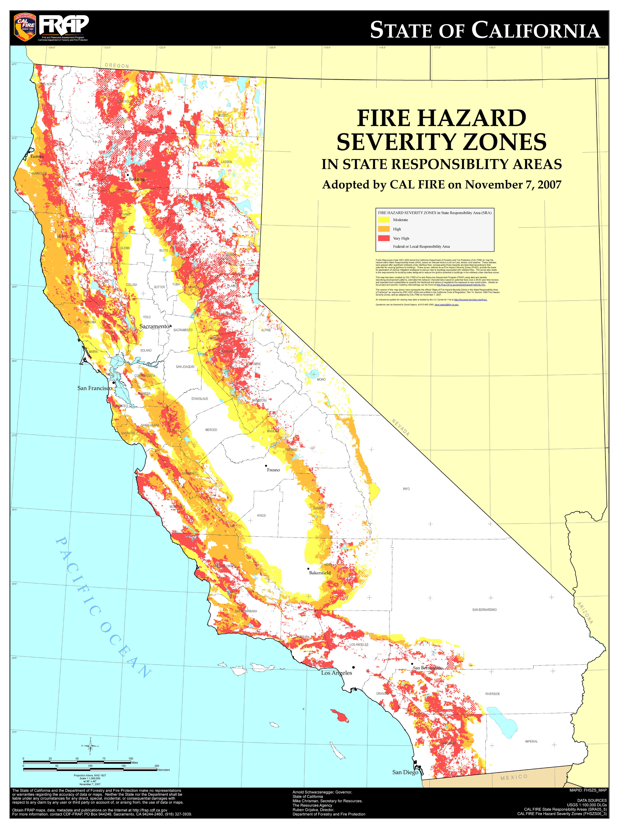 Map Of California Wildfires California State Map Current Wildfires - Map Of Current Fires In Southern California