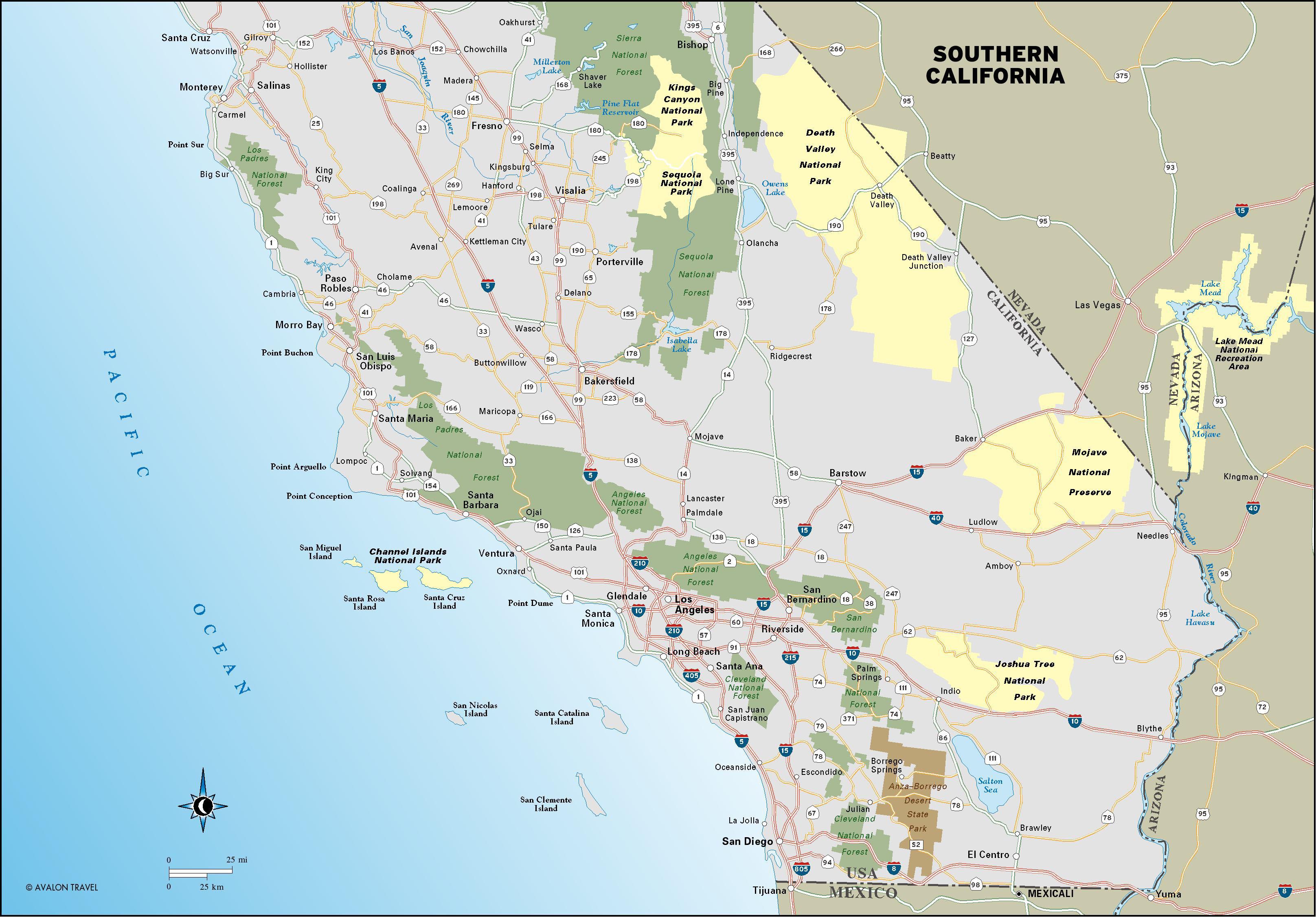 Map Of Central California Coast - Klipy - Map Of Central California Coast Towns