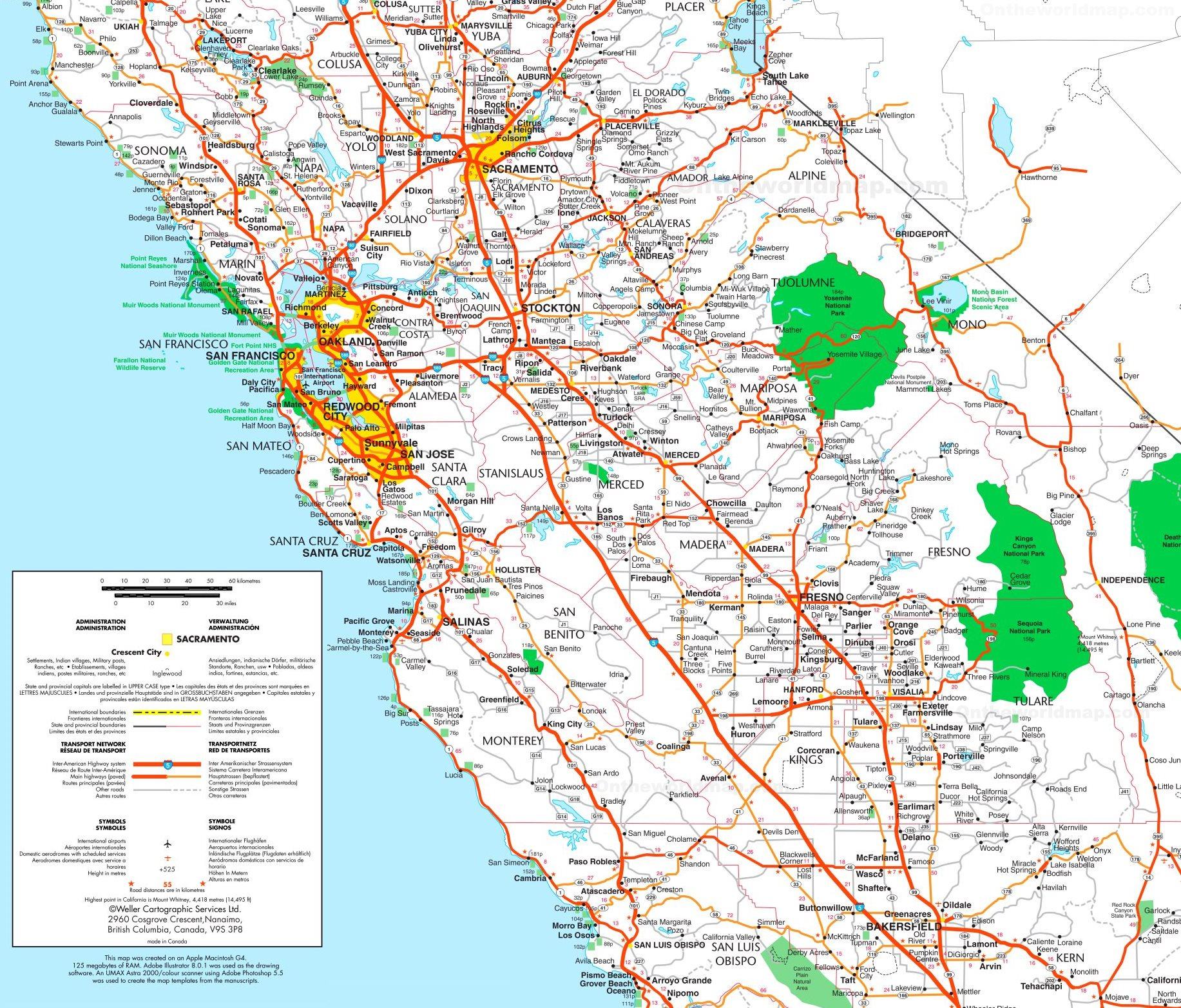 Map Of Central California - Map Of Central California