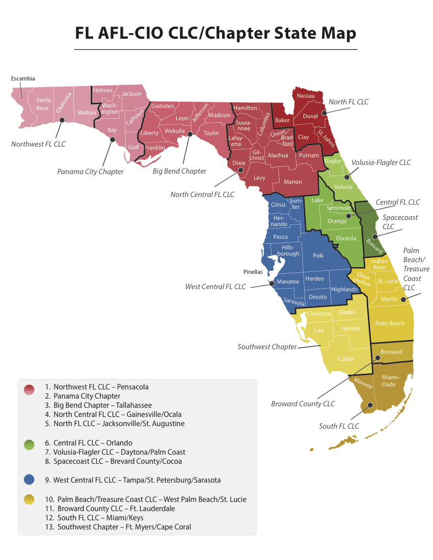 Map Of Central Florida Counties And Cities #334583 - Central Florida County Map