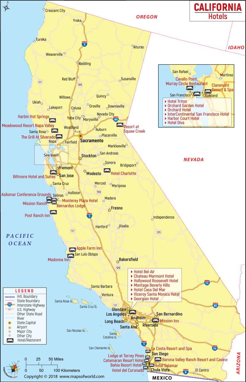 Map Of Claremont California - Klipy - California Hotel Map