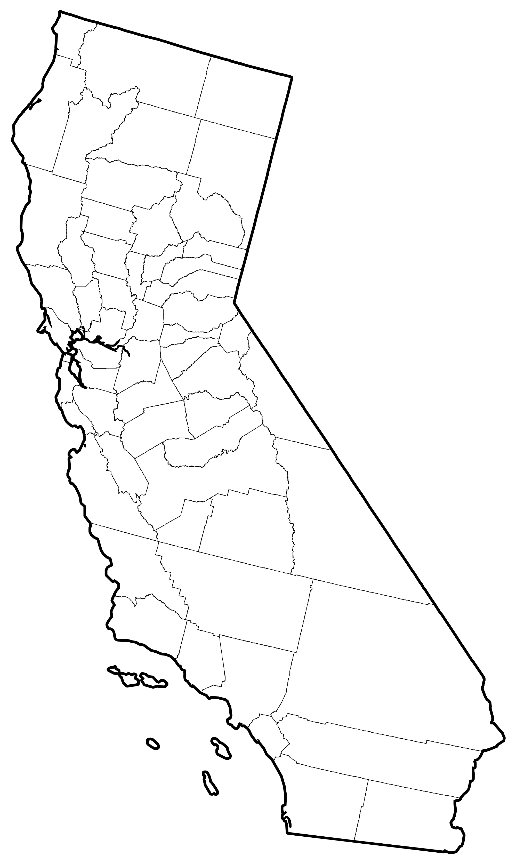 Map Of County Lines In California - Klipy - California Map With County Lines