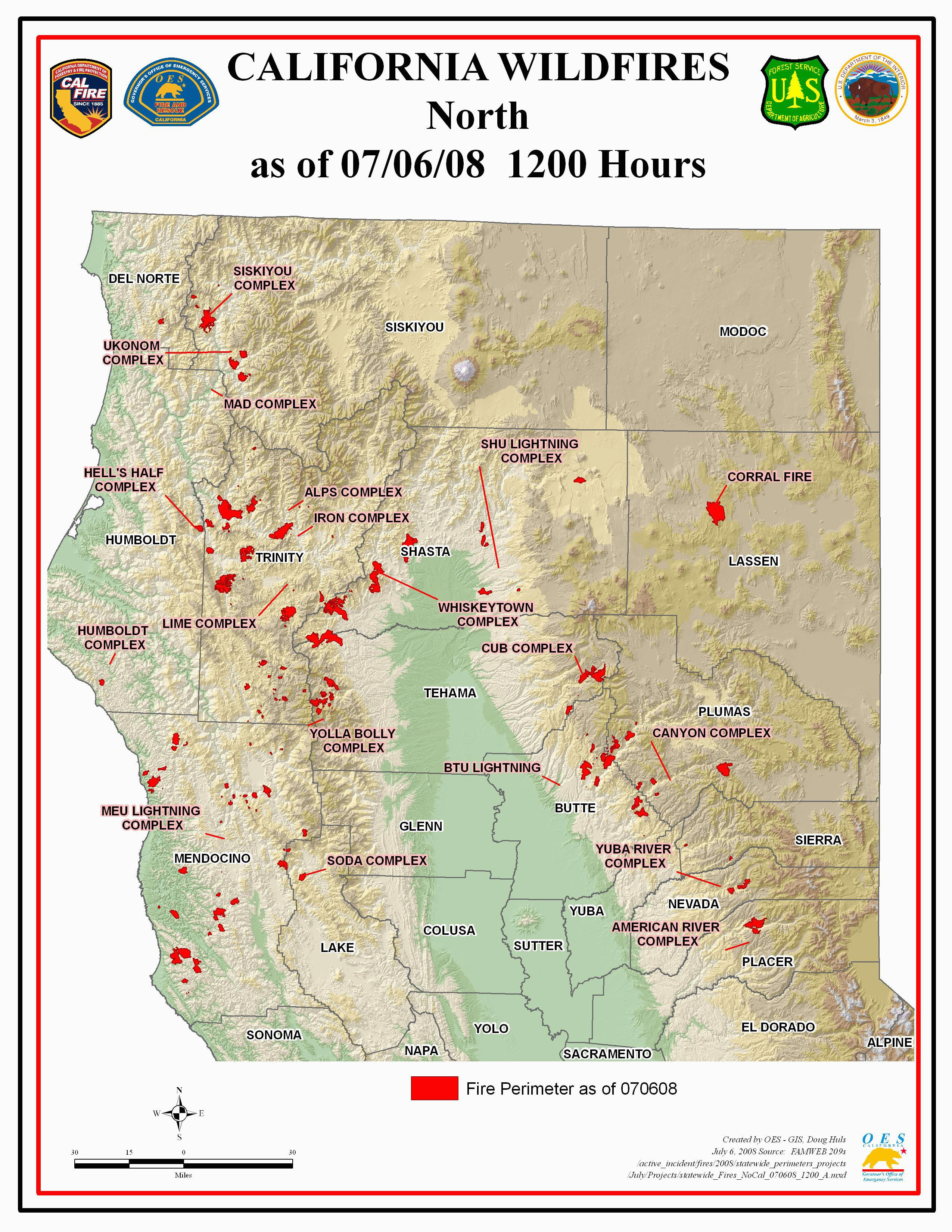 Map Of Current Fires In Northern California   Secretmuseum - California Fires Update Map