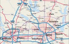 Map Of Dfw Area – Map Of Dfw Area Cities (Texas – Usa) – Map Of Fort Worth Texas Area