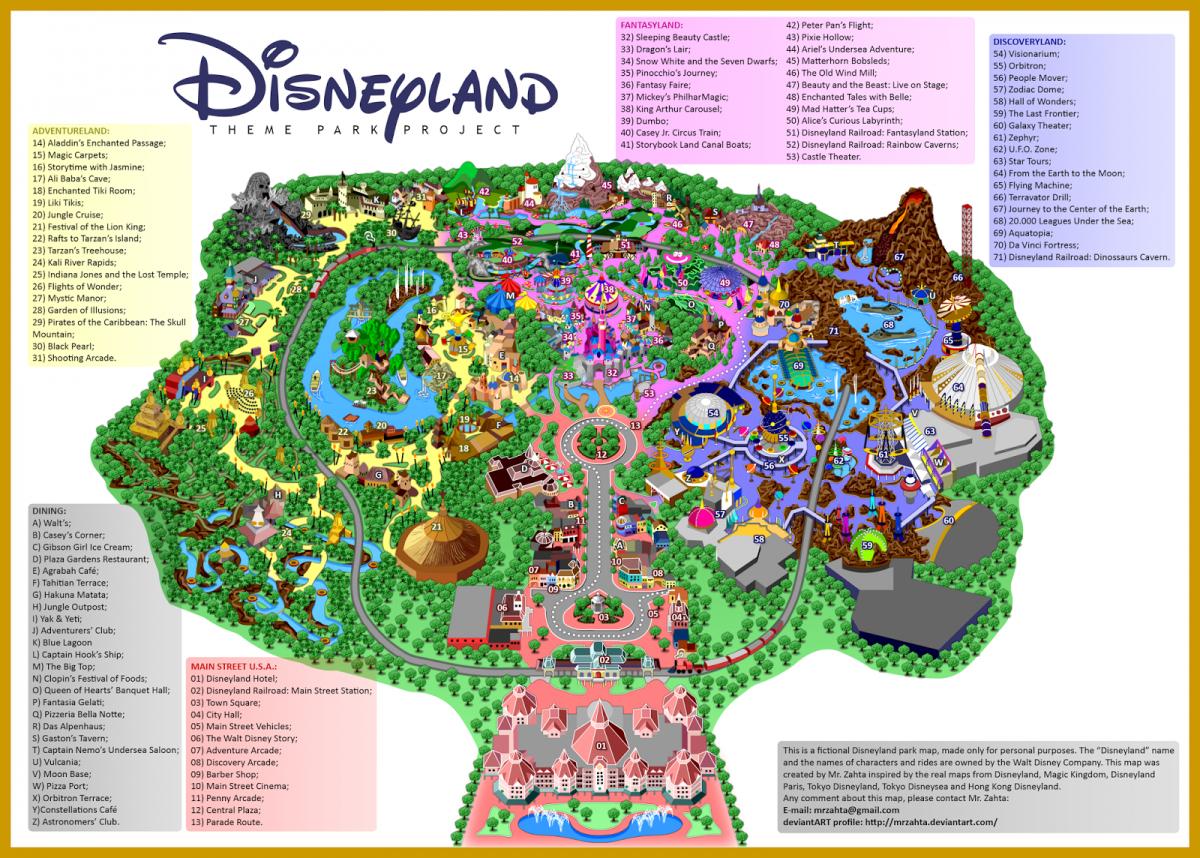 Map Of Disneyland Google Maps California Printable Map Of Disneyland - Disneyland Map 2018 California