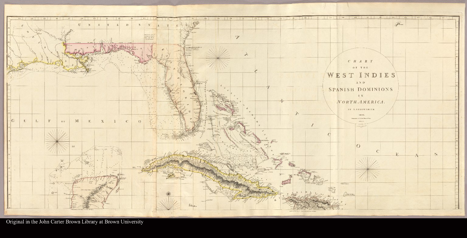 Map Of Florida And The Caribbean Islands] - Jcb Map Collection - Map Of Florida And Caribbean