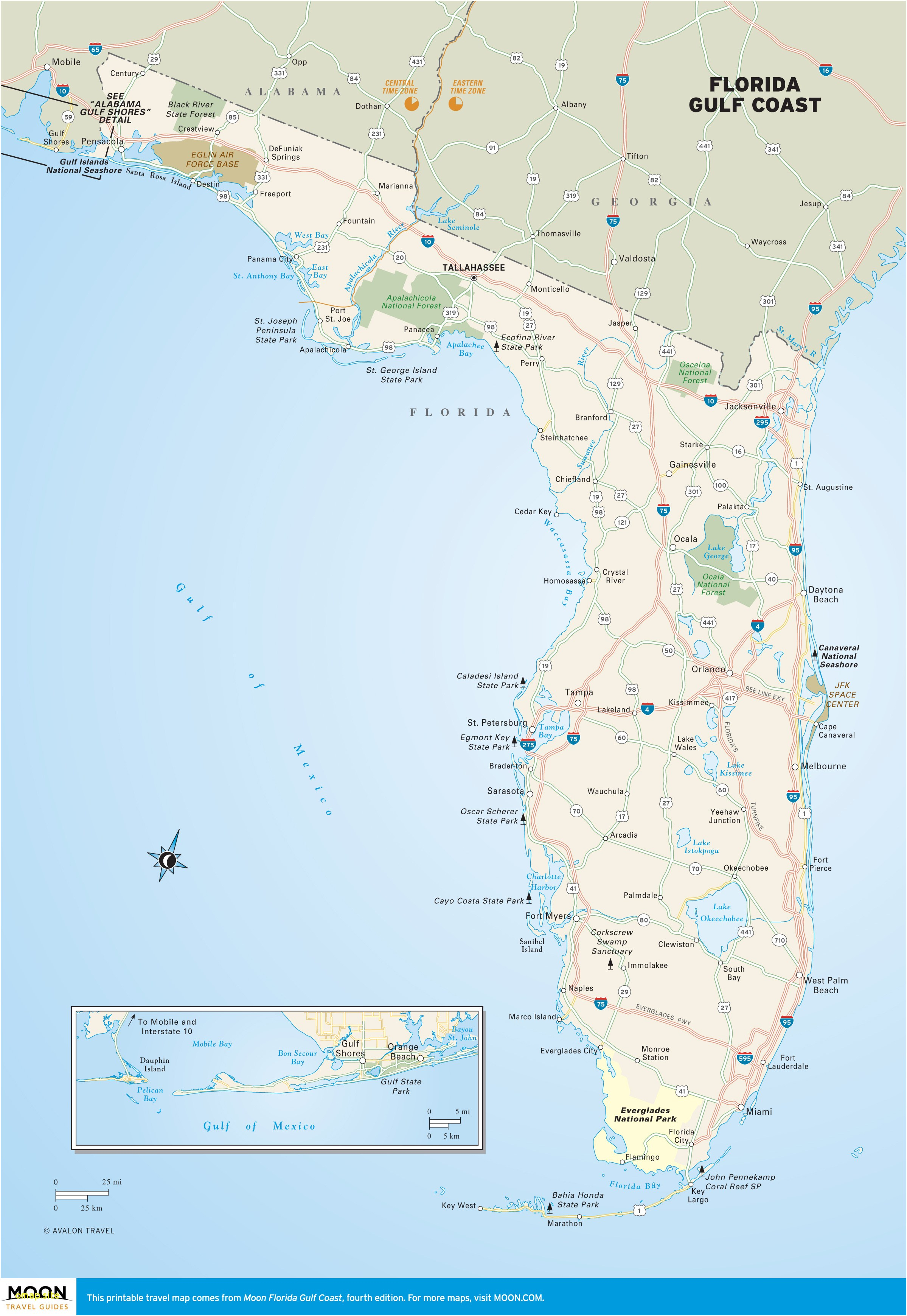Map Of Florida Cities And Beaches - Watersound Florida Map