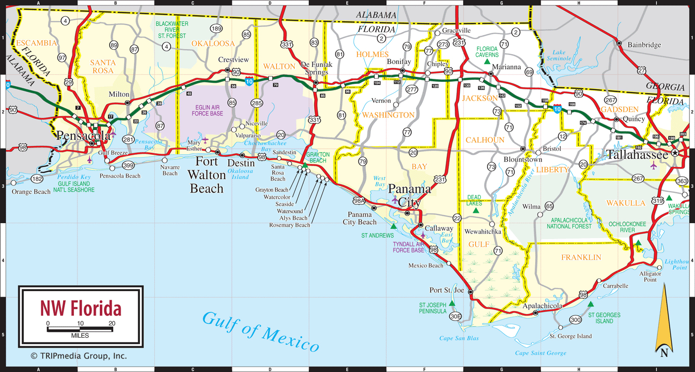 Map Of Florida Coast - Map Of Florida Beaches Gulf Side
