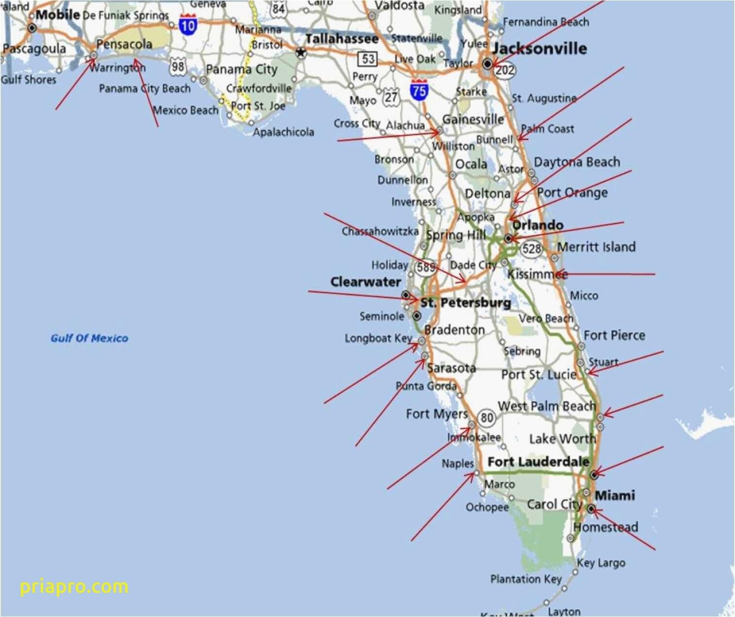 Map Of Florida Coastline   Zhangyedahuang - Florida East Coast Beaches Map
