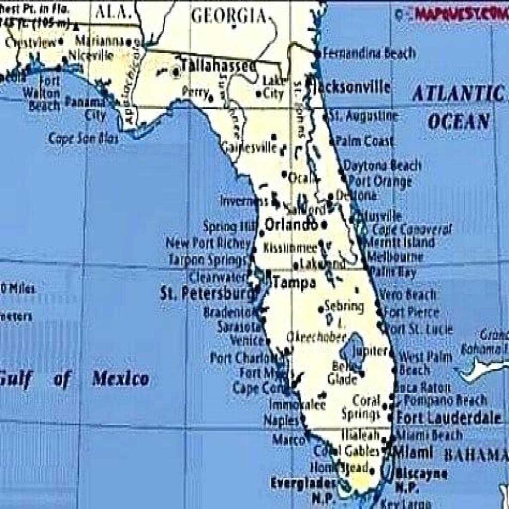 Map Of Florida Gulf Side Crafty Inspiration Ideas - World Map - Map Of Florida Gulf Side