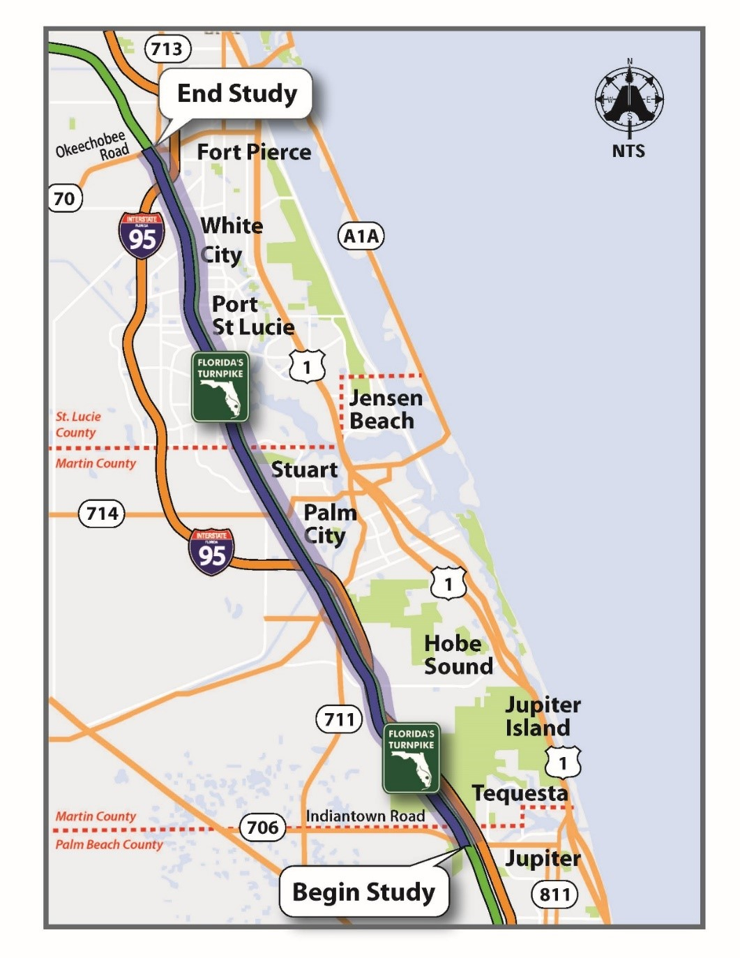 Map Of Florida Port St Lucie - Map Of Florida With Port St Lucie