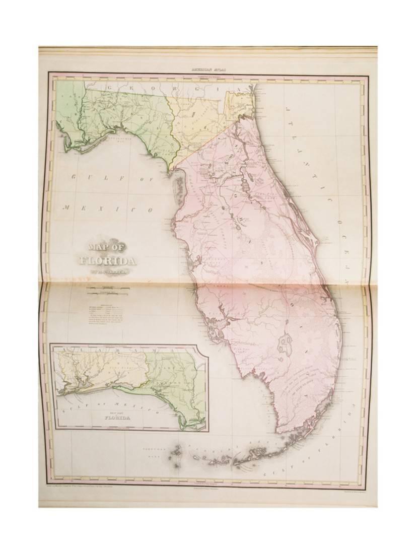 Map Of Florida Print Wall Art - Walmart - Map Of Florida Wall Art