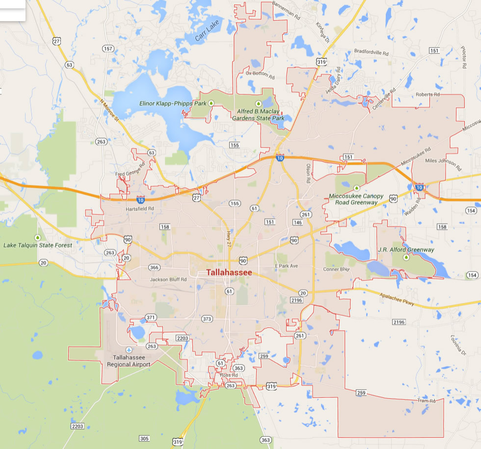 Map Of Florida Showing Tallahassee And Travel Information | Download - Alligator Point Florida Map