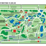 Map Of Forest Park In St. Louis, Missouri | St. Louis, Missouri   Forest Park St Louis Map Printable