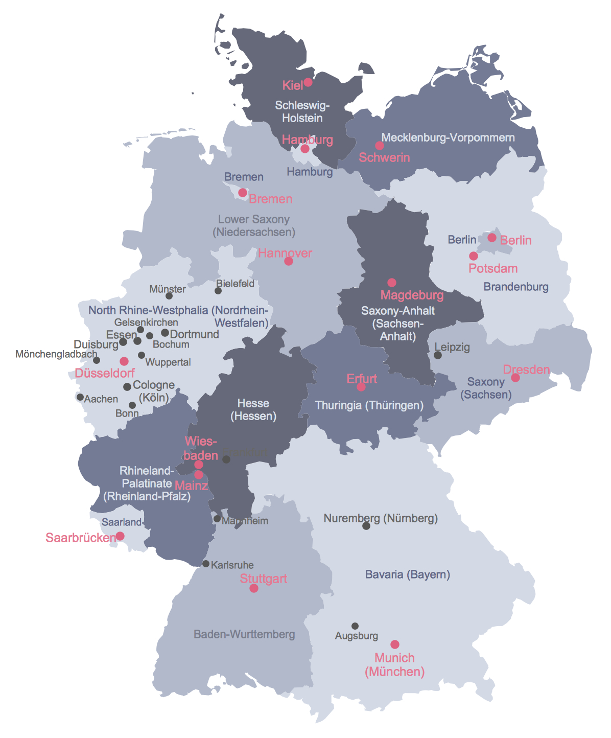 Map Of Germany - Large Printable Map Of Germany
