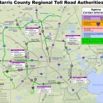 Map Of Harris County, Texas (Houston Area) Toll Roads Free For   Texas Toll Roads Map