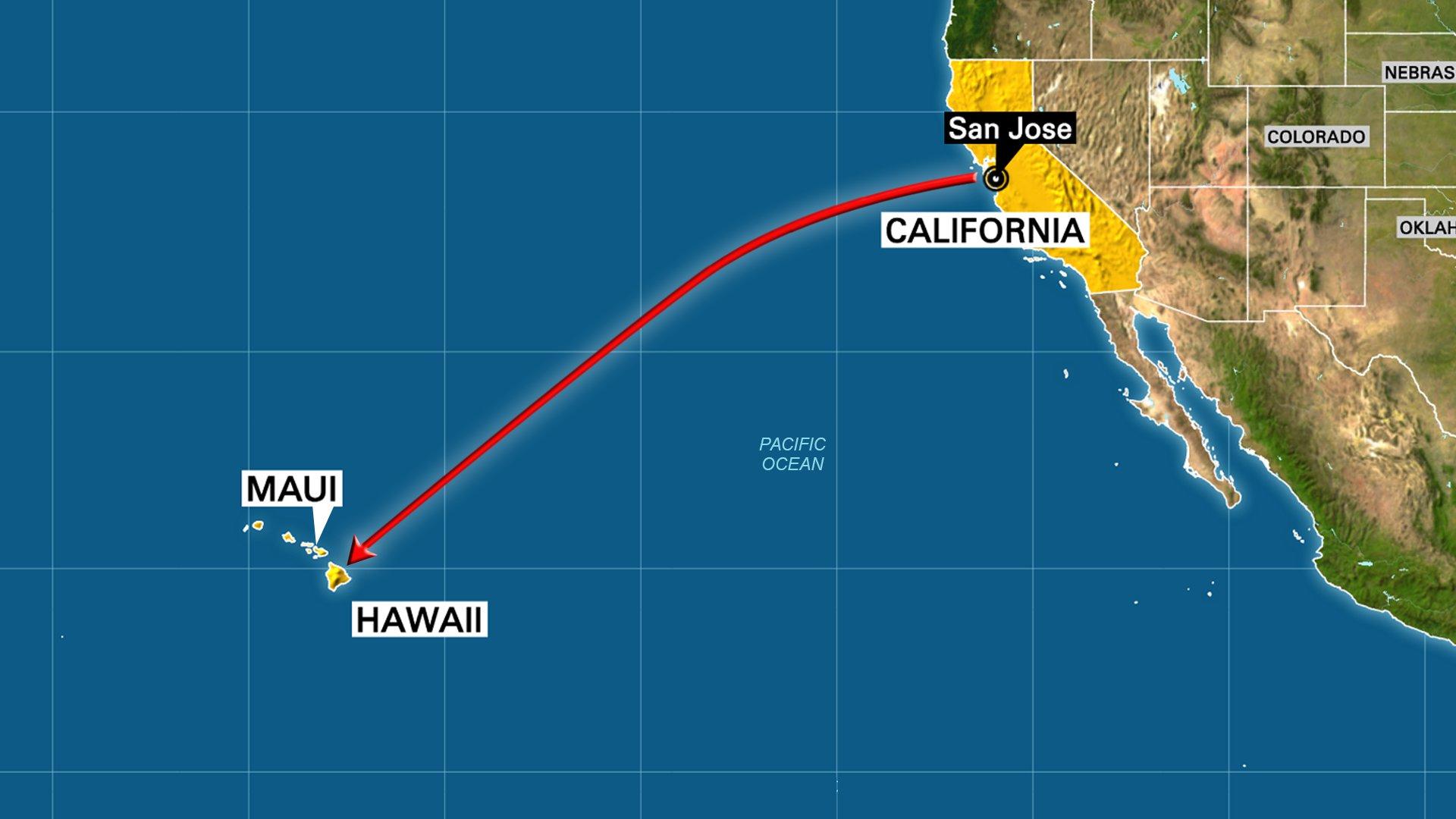 Map Of Hawaiian Islands And California - Klipy - Map Of Hawaiian Islands And California