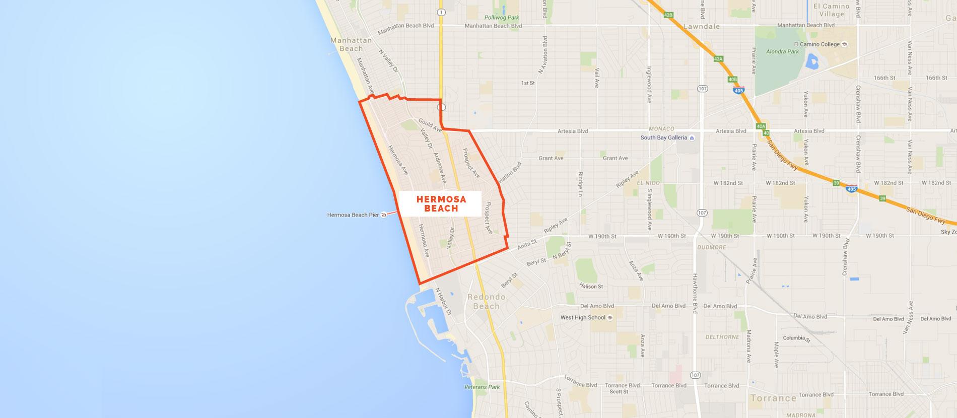 Map Of Hermosa Beach California - Klipy - Hermosa Beach California Map