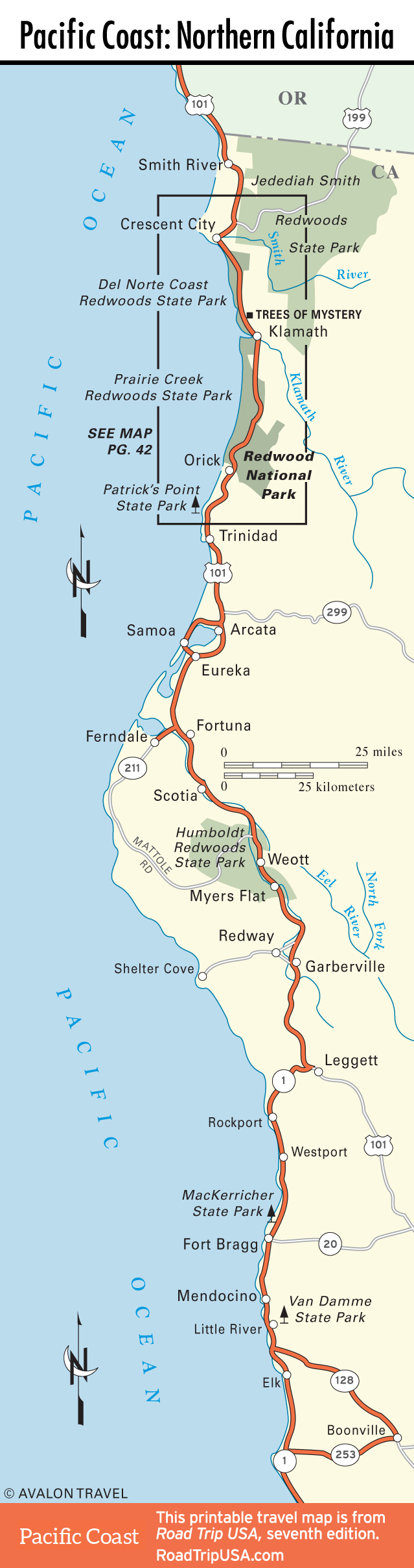 Map Of Highway 101 In California - Klipy - California Coast Map 101